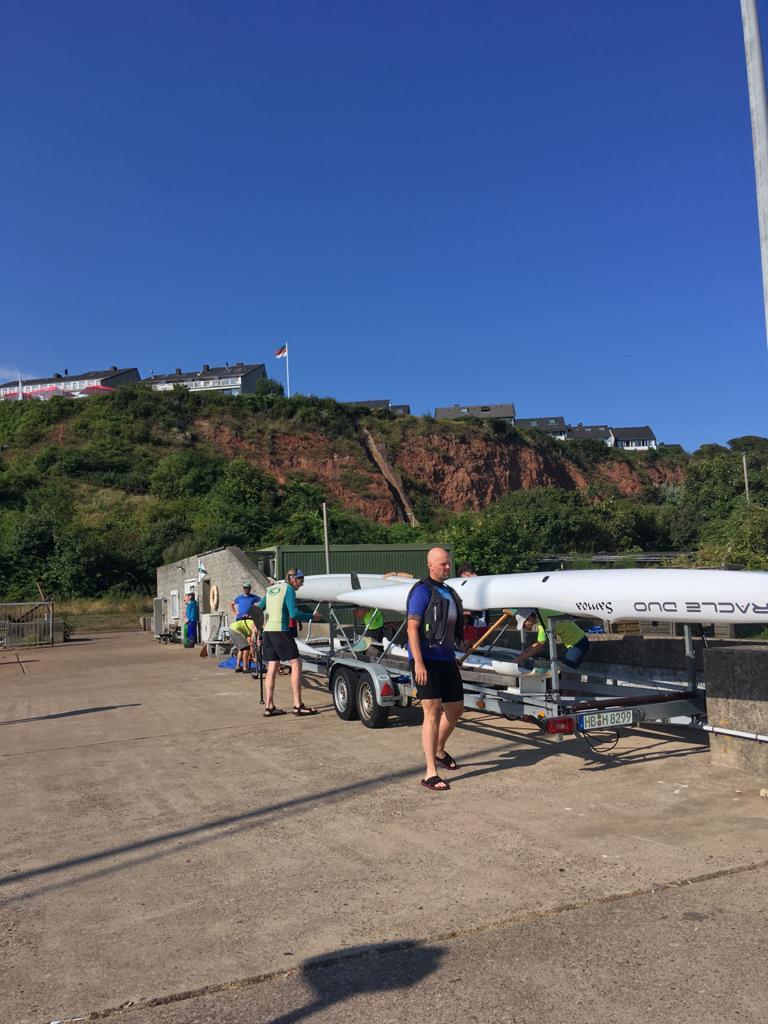Bootstrailer auf dem Weg zum Nord-Ost-Hafen